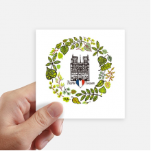 Notre Dame Cathedral Paris France Square Stickers 10cm Wall Suitcase Laptop Motobike Decal 8pcs