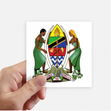 Tanzania Africa National Emblem Square Stickers 10cm Wall Suitcase Laptop Motobike Decal 8pcs