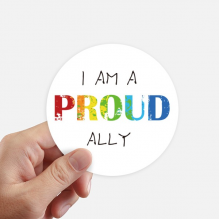 LGBT Rainbow Flag Proud Ally Round Stickers 10cm Wall Suitcase Laptop Motobike Decal 8pcs
