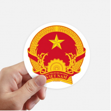Vietnam Asia National Emblem Round Stickers 10cm Wall Suitcase Laptop Motobike Decal 8pcs