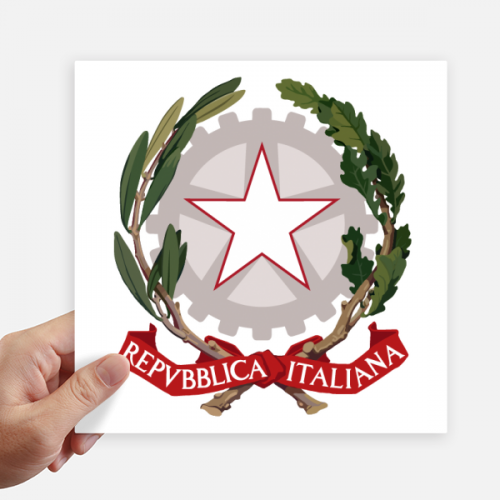 Italy Europe National Emblem Sticker Tags Wall Picture Laptop Decal Self adhesive
