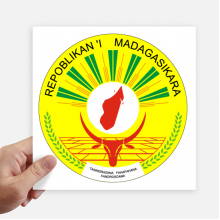 Madagascar Africa National Emblem Sticker Tags Wall Picture Laptop Decal Self adhesive