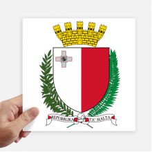 Malta Europe National Emblem Sticker Tags Wall Picture Laptop Decal Self adhesive