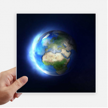 Blue White Planet Earth Sticker Tags Wall Picture Laptop Decal Self adhesive