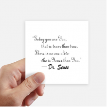 No One Is Youer Than You Dr.Seuss Square Stickers 10cm Wall Suitcase Laptop Motobike Decal 8pcs