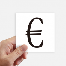 Currency Symbol Euro Square Stickers 10cm Wall Suitcase Laptop Motobike Decal 8pcs