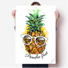 Sunglasses Pineapple Tropical Fruit Sticker Poster Decal 31x22