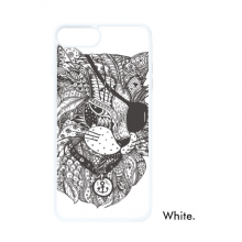 Cat Human Paint One Eye For iPhone 7/8 Plus Cases White Phonecase Apple Cover Case Gift