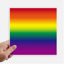 Gradient LGBT Rainbow Homo Square Stickers 20cm Wall Suitcase Laptop Motobike Decal 4pcs