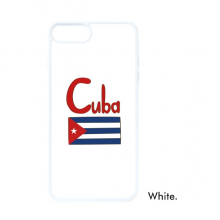 Cuba National Flag Red Blue Pattern For iPhone 7/8 Plus Cases White Phonecase Apple Cover Case Gift