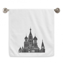 Russia Saint Petersburg Outline Circlet White Towels Soft Towel Washcloth 13x29 Inch
