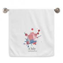 America 4 July Independent Day Hat Circlet White Towels Soft Towel Washcloth 13x29 Inch