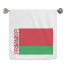 Belarus National Flag Asia Country Circlet White Towels Soft Towel Washcloth 13x29 Inch