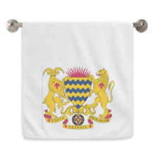Chad National Emblem Country Circlet White Towels Soft Towel Washcloth 13x29 Inch