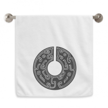 China Culture Spring Autumn Warring States Circlet White Towels Soft Towel Washcloth 13x29 Inch