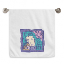 Constellation Virgo Mexicon Culture Engraving Circlet White Towels Soft Towel Washcloth 13x29 Inch