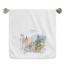 City Germany Hannover Landscape Circlet White Towels Soft Towel Washcloth 13x29 Inch
