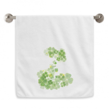 Four Leaf Clover Ireland St.Patrick's Day Circlet White Towels Soft Towel Washcloth 13x29 Inch
