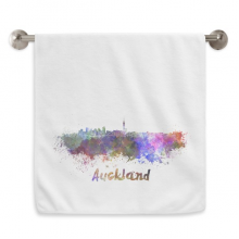 Auckland New Zealand City Watercolor Circlet White Towels Soft Towel Washcloth 13x29 Inch