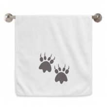 Animal Claw Silhouette Simple Step Print Circlet White Towels Soft Towel Washcloth 13x29 Inch
