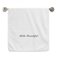 Hello Beautiful Quote Circlet White Towels Soft Towel Washcloth 13x29 Inch
