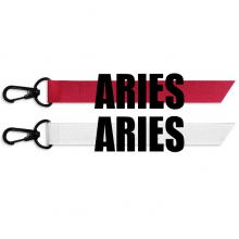 ARIES Zodiac Sign Black Fashion Ribbons Accessories Hangings Red White 2pcs Gifts