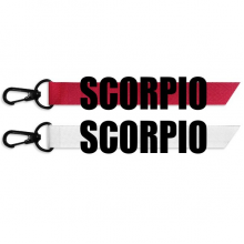 SCORPIO Zodiac Sign Black Fashion Ribbons Accessories Hangings Red White 2pcs Gifts
