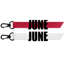 June Month Black Words Fashion Ribbons Accessories Hangings Red White 2pcs Gifts