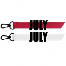 July Month Black Words Fashion Ribbons Accessories Hangings Red White 2pcs Gifts