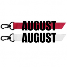 August Month Black Words Fashion Ribbons Accessories Hangings Red White 2pcs Gifts