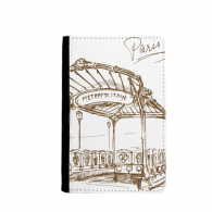 Metropolitain Station France Paris Landmark Passpord Holder Travel Wallet Cover Case Card Purse Gifts
