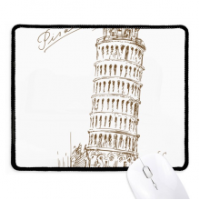 Leaning Tower of Pisa Italy Pisa Non-Slip Mousepad Game Office Black Stitched Edges Gift