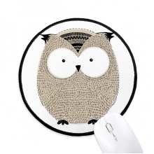 Simplicity Style Chubby Owl Round Non-Slip Mousepads Black Stitched Edges Game Office Gift