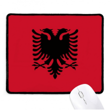 Albania National Flag Europe Country Non-Slip Mousepad Game Office Black Titched Edges Gift