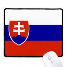 Slovakia National Flag Europe Country Non-Slip Mousepad Game Office Black Stitched Edges Gift