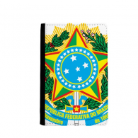 Brisil National Emblem Country Passpord Holder Travel Wallet Cover Case Card Purse Gifts