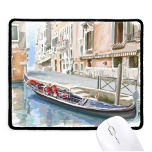 Italy Venice Landmark National Pattern Non-Slip Mousepad Game Office Black Stitched Edges Gift