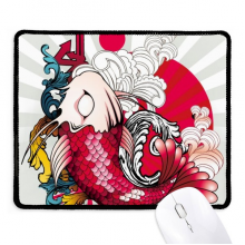 Art Radiate Japan Pattern Non-Slip Mousepad Game Office Black Titched Edges Gift