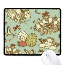 Easter Religion Festival Colorful Angle Horse Non-Slip Mousepad Game Office Black Titched Edges Gift
