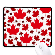 Canada Flavor Leaves Canadian Maple Flag Non-Slip Mousepad Game Office Black Stitched Edges Gift
