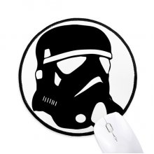 Starry Wars Pollution Gas Mask Round Non-Slip Mousepads Black Stitched Edges Game Office Gift