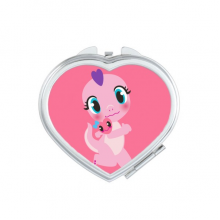 Dinosaur Kingdom Love You Heart Compact Makeup Mirror Portable Cute Hand Pocket Mirrors Gift