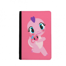 Dinosaur Kingdom Love You Passport Holder Travel Wallet Cover Case Card Purse