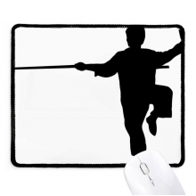 China Chinese Shaolin Stick Martial Art Non-Slip Mousepad Game Office Black Stitched Edges Gift