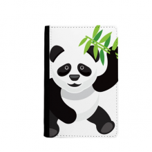 Chinese Panda Bamboo Traditional Art Pattern Passport Holder Travel Wallet Cover Case Card Purse