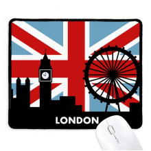 Britain Union Jack London Eye Big Ben Flag UK Non-Slip Mousepad Game Office Black Stitched Edges Gift