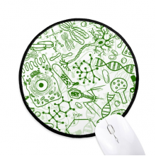 Green Microscope Cells Structure Biological Round Non-Slip Mousepads Black Stitched Edges Game Office Gift