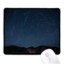 Landscape Stars Lights Night Sky Non-Slip Mousepad Game Office Black Titched Edges Gift