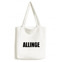 Allinge Denmark City Name Environmentally Tote Canvas Bag Shopping Handbag Craft Washable