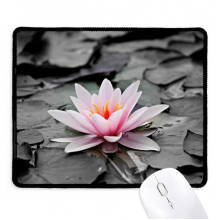 Pink Flowers Red Lotus Non-Slip Mousepad Game Office Black Stitched Edges Gift